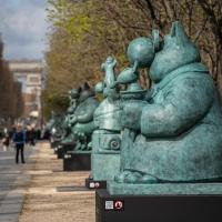 """L'expo à ciel ouvert: """"le chat déambule"""" à l'occasion de """"Bordeaux fête le vin"""""""